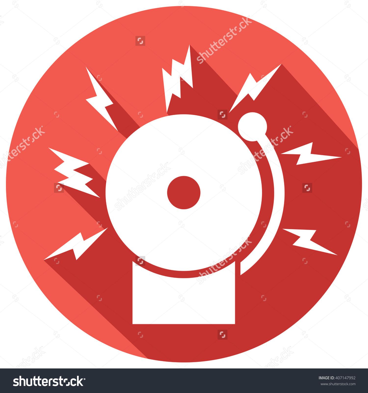 Fire Alarm Icon Bell Stock Vector 407147992.