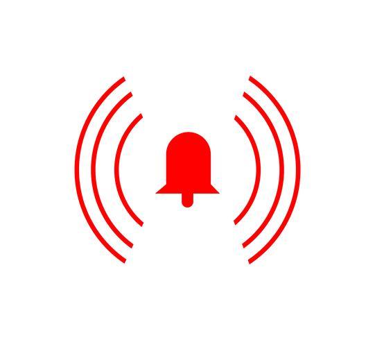 Alarm ring bell icon.