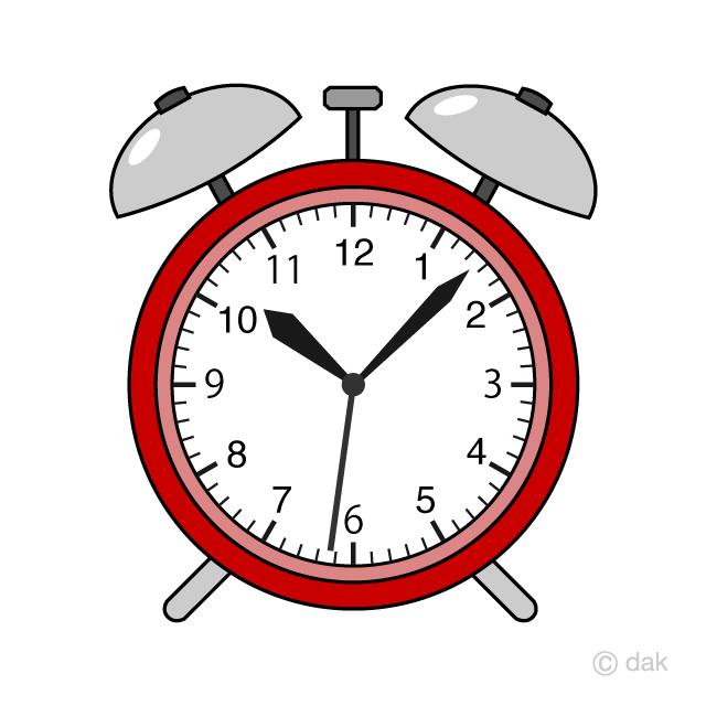 Red Alarm Clock Clipart Free Picture|Illustoon.