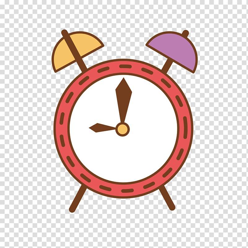 Alarm clock Cartoon, Cartoon alarm clock transparent.