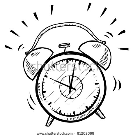 Alarm clock clipart black and white » Clipart Station.