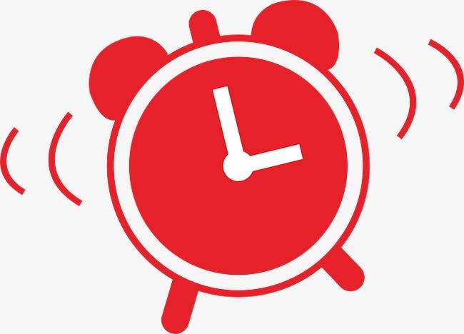 Red Alarm Clock Clipart.