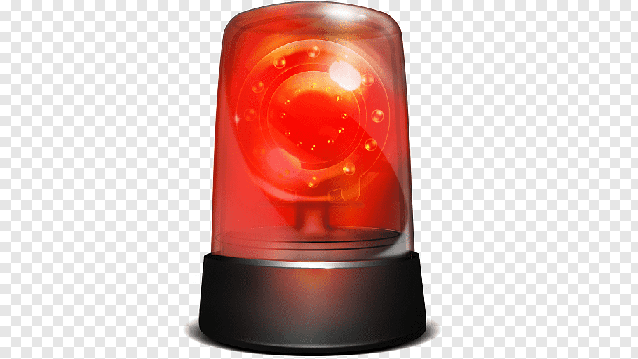 Red beacon light, Siren Alarm device Computer Icons Fire.
