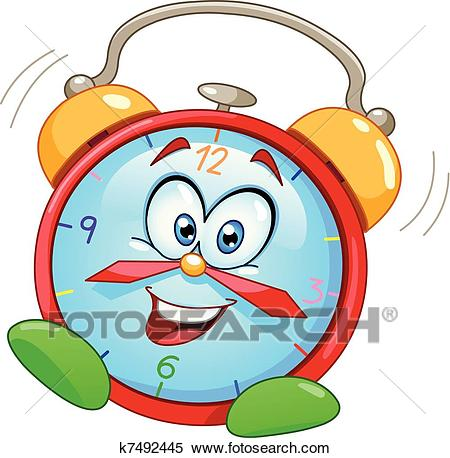 Cartoon alarm clock Clipart.
