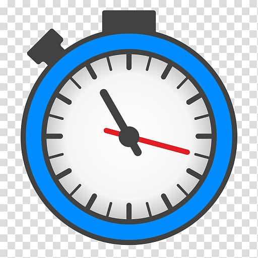 Blue and white clock icon, Computer Icons Timer Alarm Clocks.