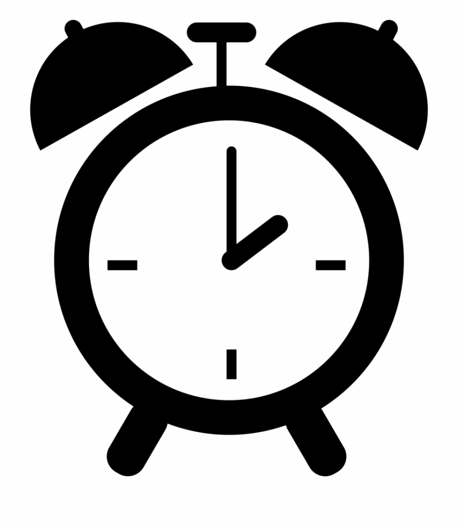 Transparent Background Alarm Clock Clip Art.