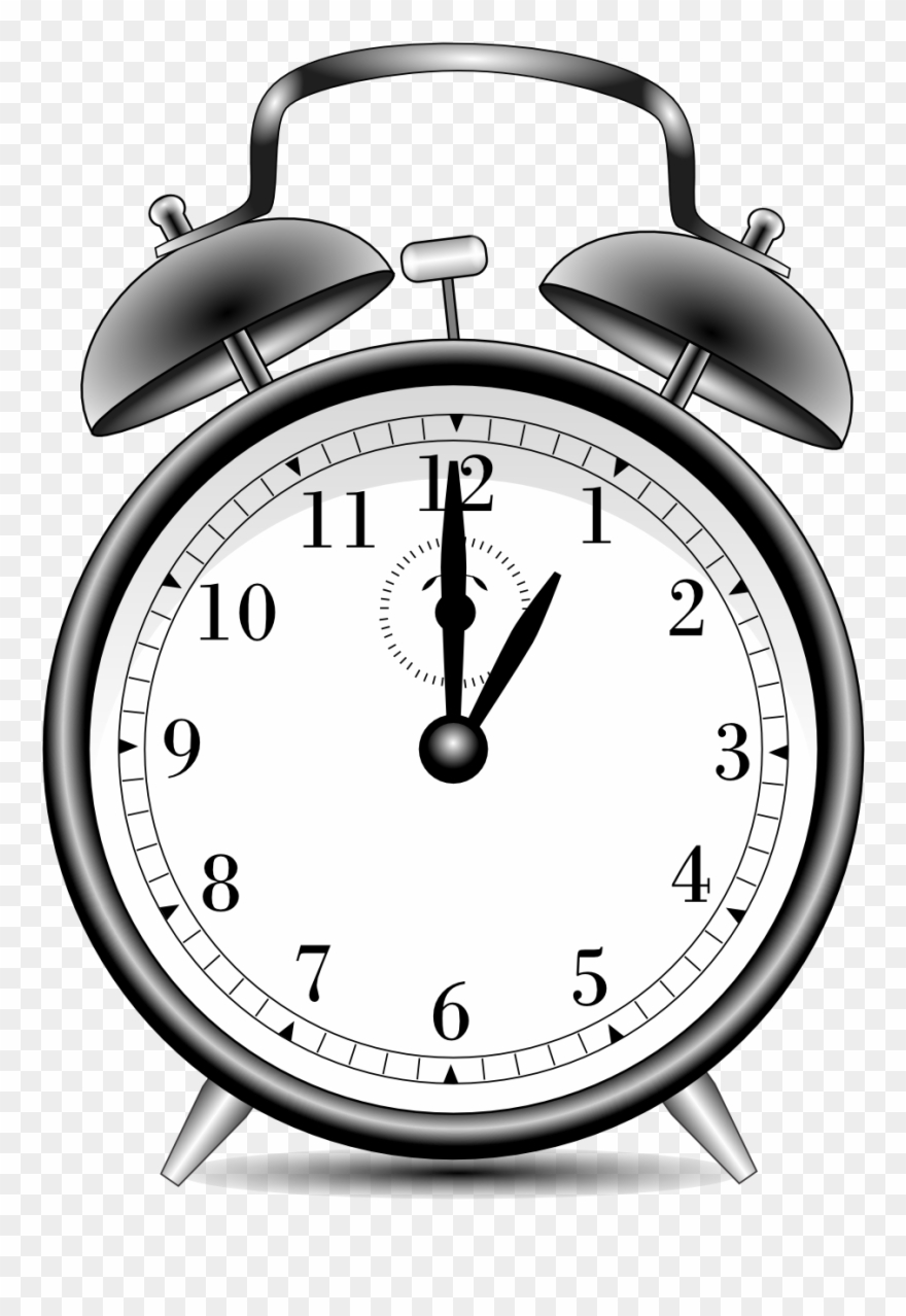 Alarm Clock Alarmclock Black White Line Art 999px 299.
