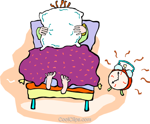 alarm clock going off in the morning Royalty Free Vector.