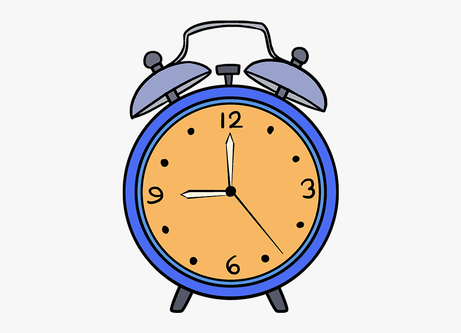 How To Draw Alarm Clock.