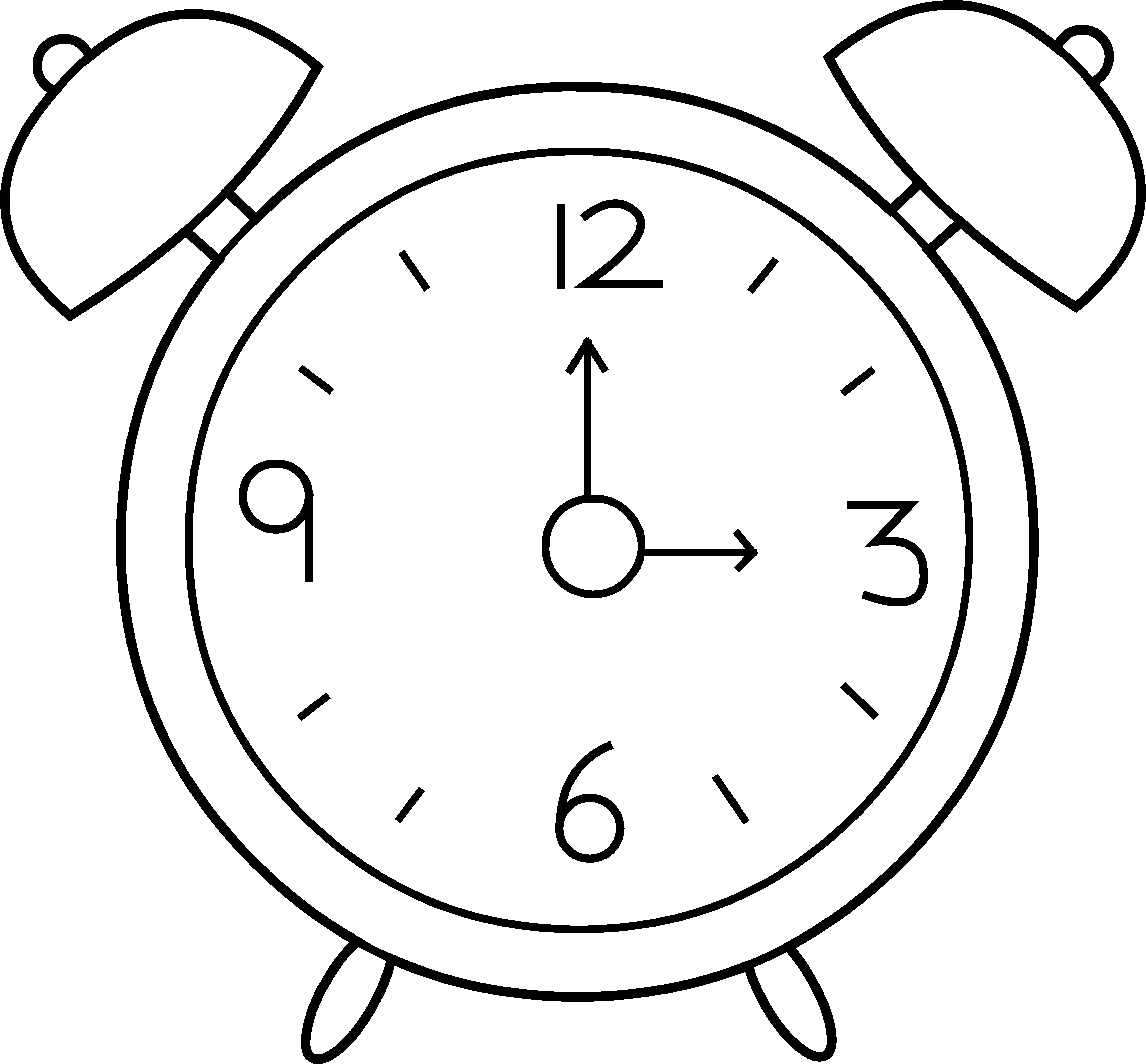 45 Clock Black And White free clipart.