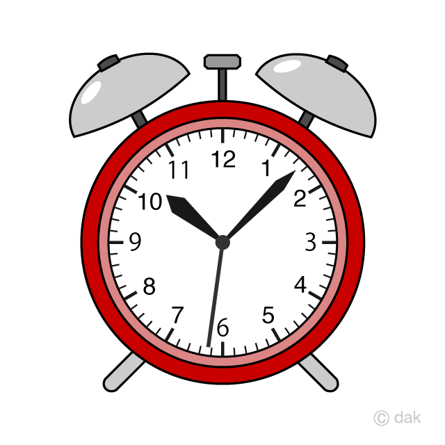 Free Red Alarm Clock Clipart Image|Illustoon.