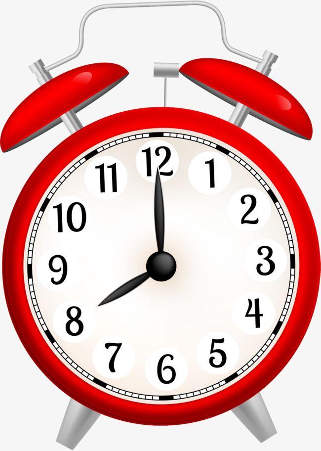 Cartoon Red Alarm Clock, Cartoon Clipart, Clock Clipart, Cartoon PNG.