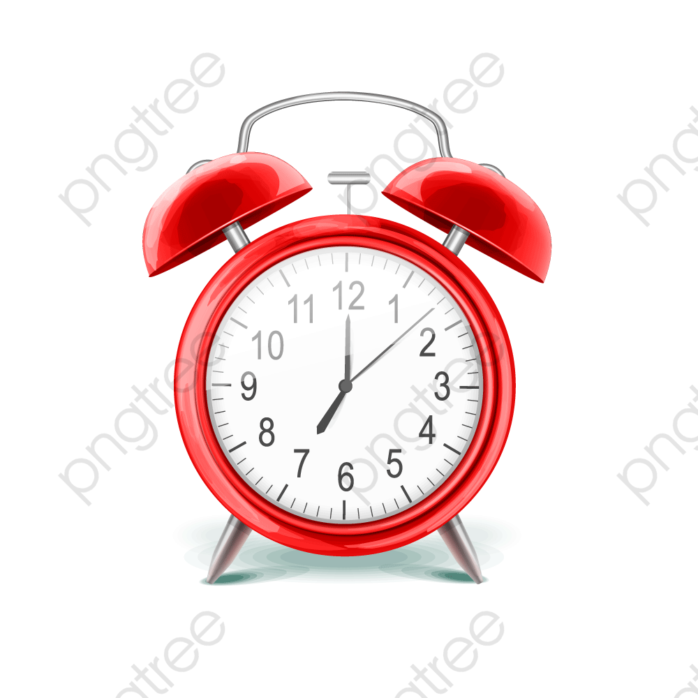 Small Red Alarm Clock, Red, Small, Alarm Clock PNG and Vector with.