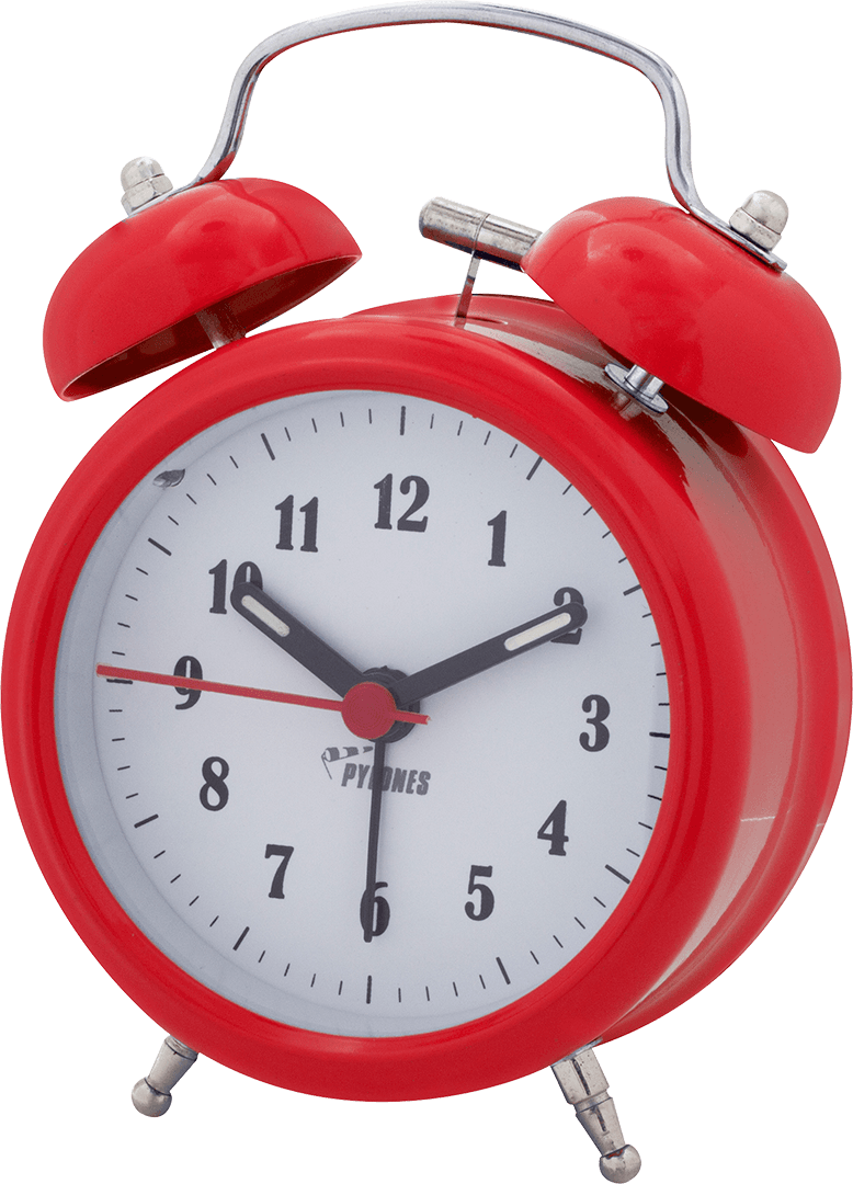 Alarm Clocks Mini Alarm Clock Newgate Clocks & Watches Red.