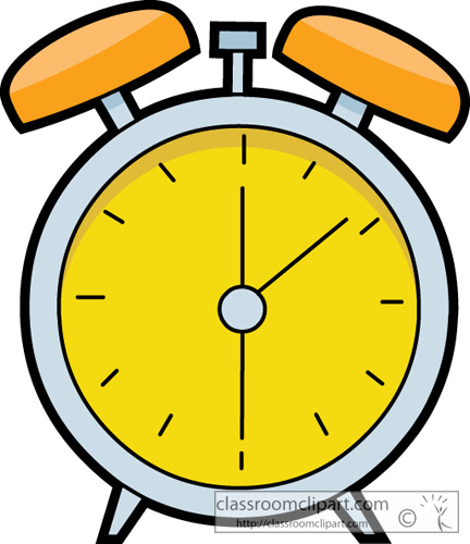 Transparent Alarm Clock Clipart.