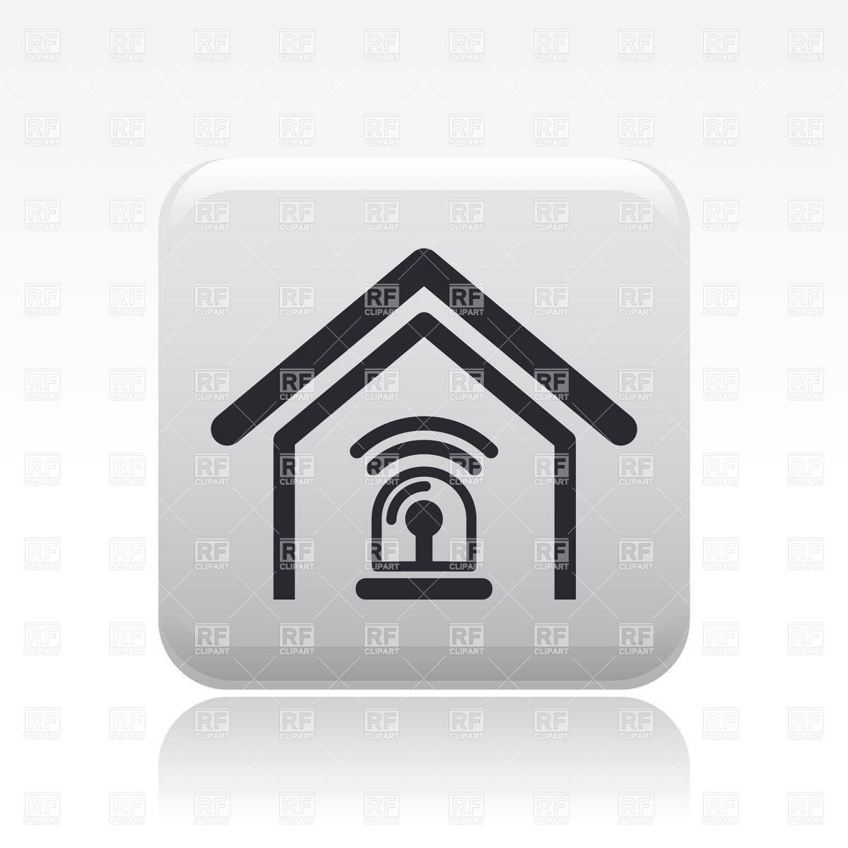 Home Alarm System Clip Art.
