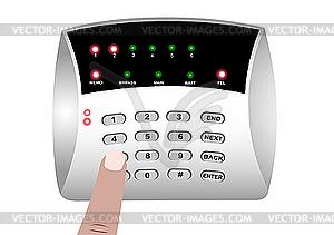 Clip Art Alarm System.