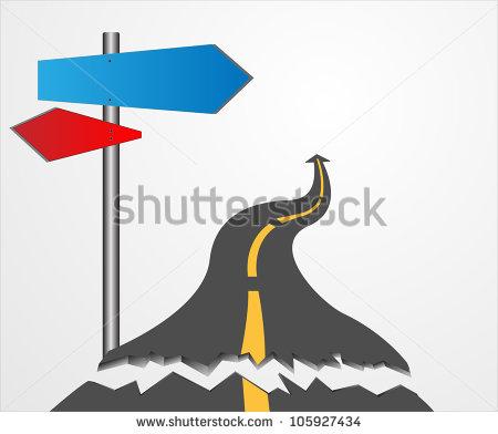 Broken road clipart.