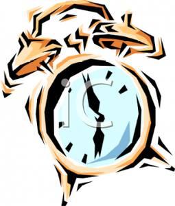Ringing Alarm Clock Clipart.