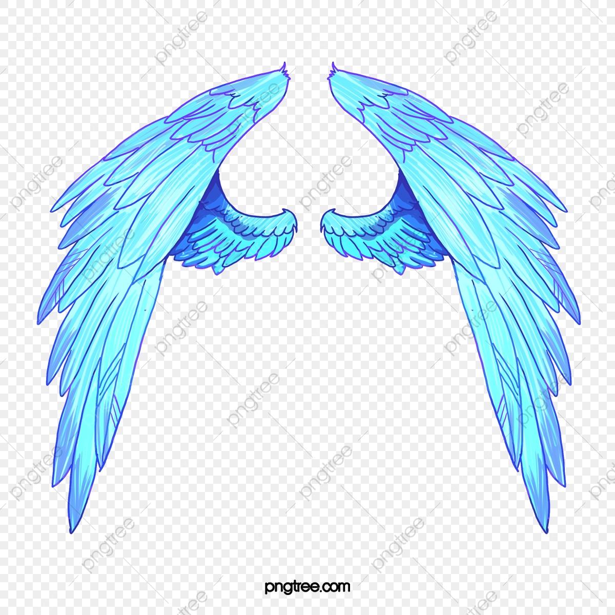 Alas De Angel, Pintado A Mano De Estilo, Azul, Alas De Angel Archivo.