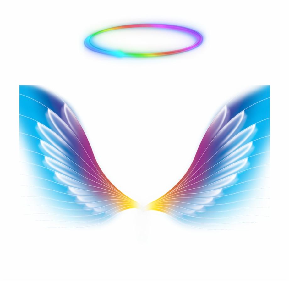 Angel Wings Halo Rainbow Colorful Galaxy Colorfulangel.