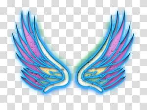 Alas, pink wings illustration transparent background PNG clipart.