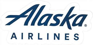 Alaska Airlines Logo Sticker.