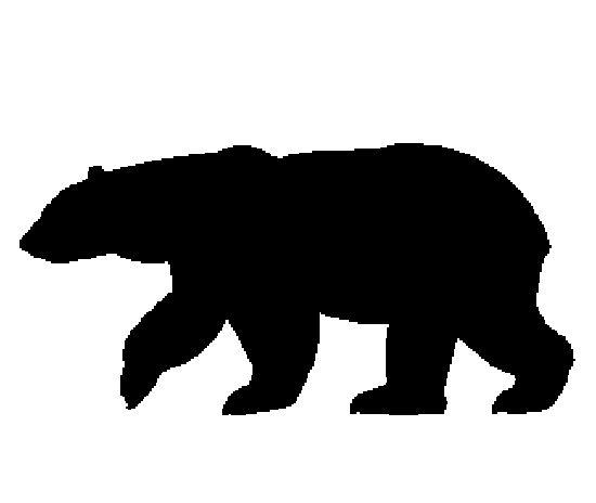 Alaska polar bear clipart silhouette.
