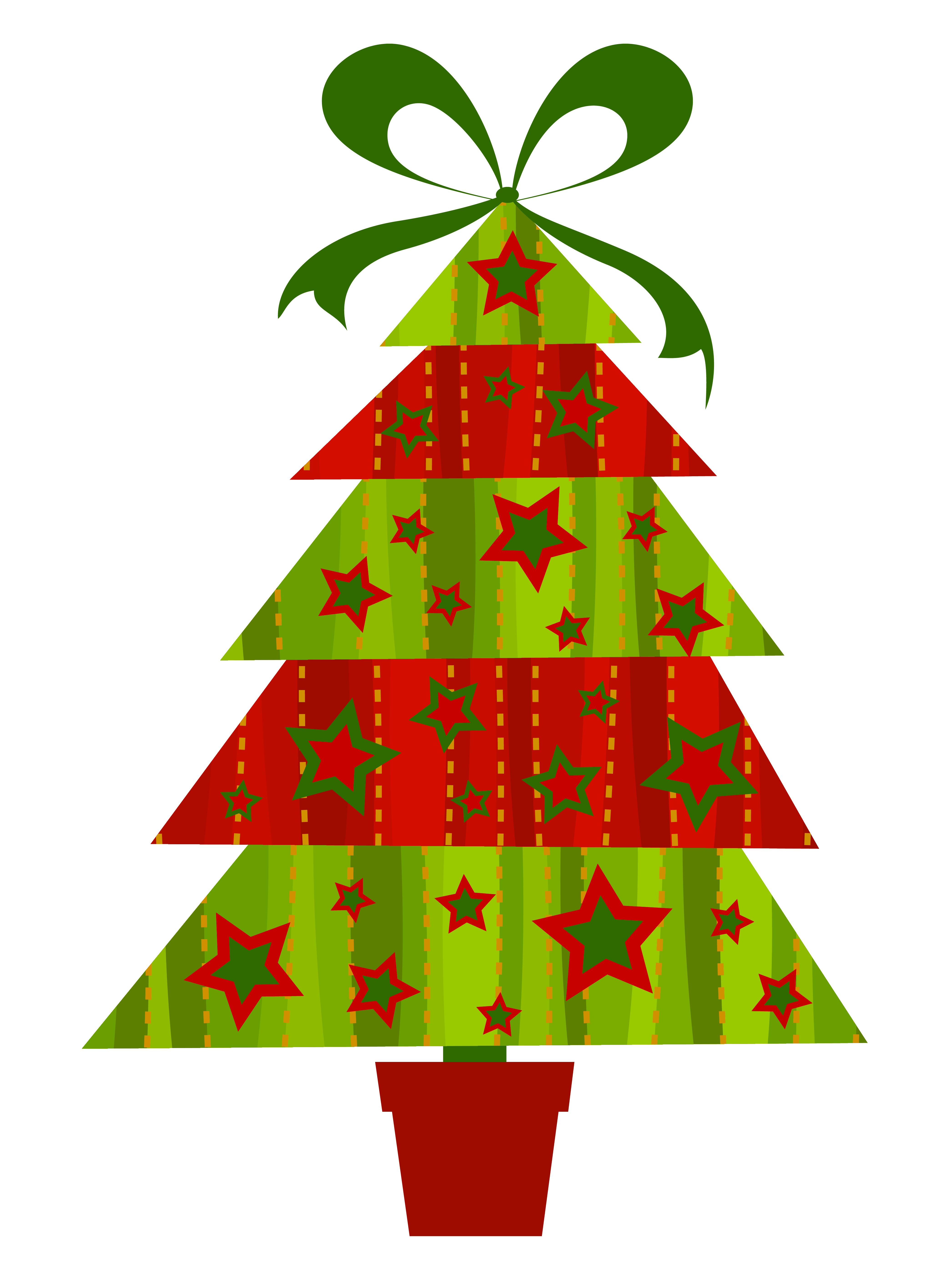 Modern Christmas Tree Clipart.