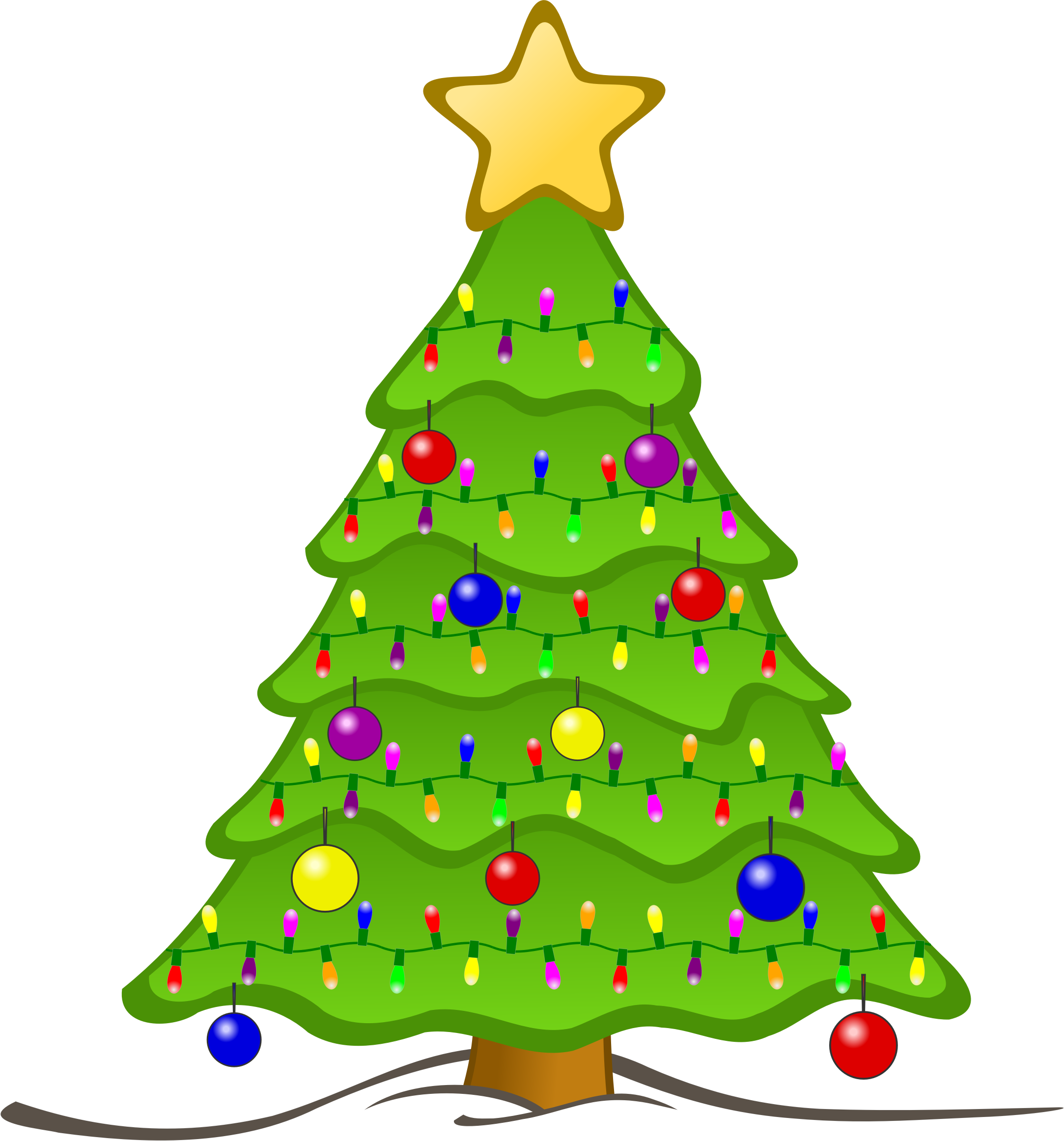 Animated Christmas Tree Clipart.