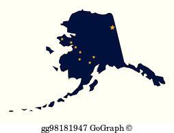 Alaska State Clip Art.