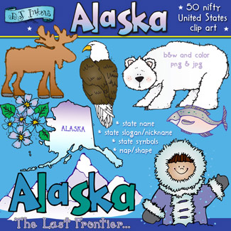 Cool clip art smiles from Alaska by DJ Inkers.