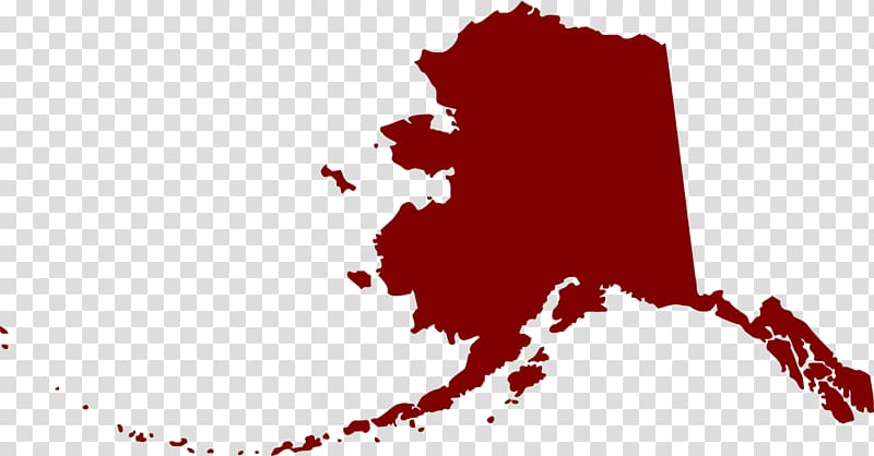Flag of Alaska Map, map transparent background PNG clipart.