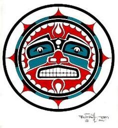 Northwest Native American Sun Art.