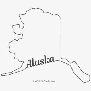 Alaska State Outline , Transparent Cartoon, Free Cliparts.