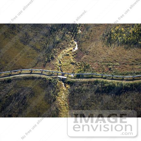 Picture of the Trans Alaska Pipeline Crossing Koyukuk River.