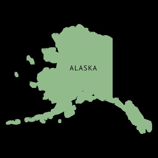 Alaska state plain map.
