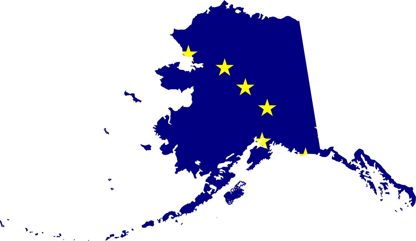 Alaska Flag Map • Mapsof.net.