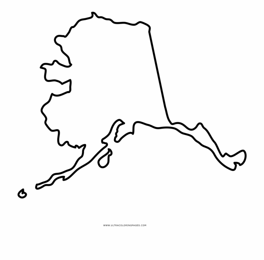 Alaska State Outline Drawing 256541 Coloring Pages.