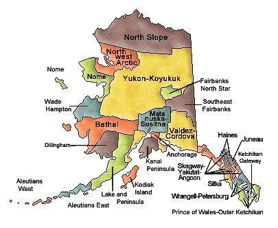 Alaska Hub Cities.
