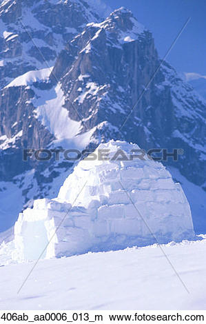 Stock Photo of Igloo Ruth Amphitheater Day Scenic Alaska Range.