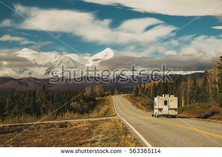 Alaska Road Stock Photos, Royalty.