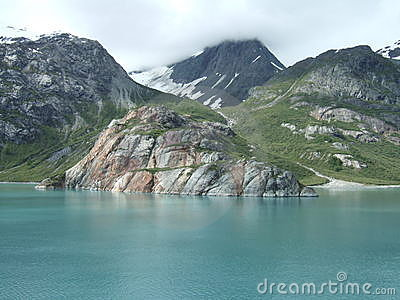 Alaska Scenery Stock Photo.
