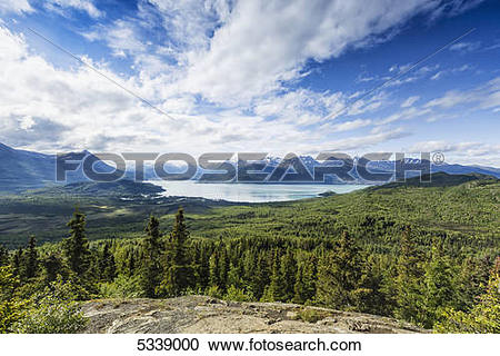 Stock Photography of Scenic overlook of Skilak Lake and the Bear.