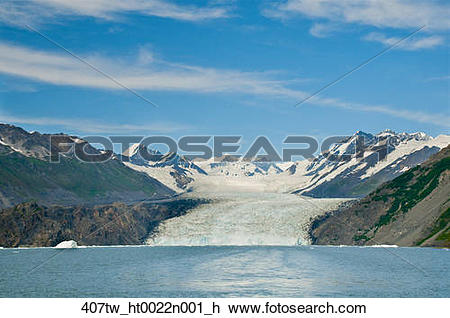 Stock Photo of Scenic view of Yale Glacier and Yale Arm from the.