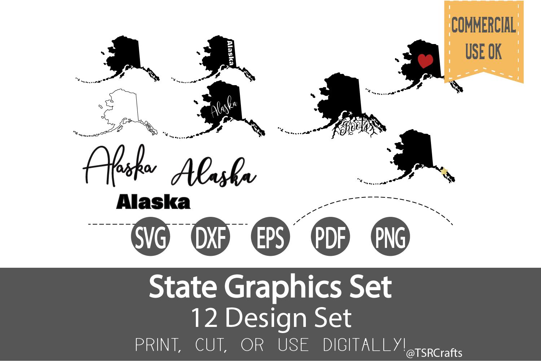 Alaska State Graphics Set.
