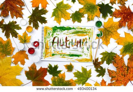 Autumn Frame Notepad Stock Photos, Royalty.