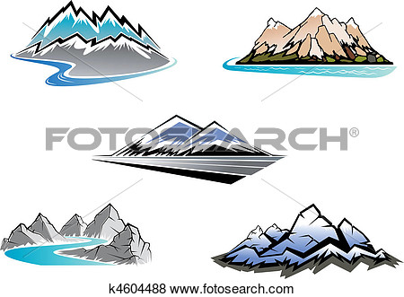 Alps mountain clipart.