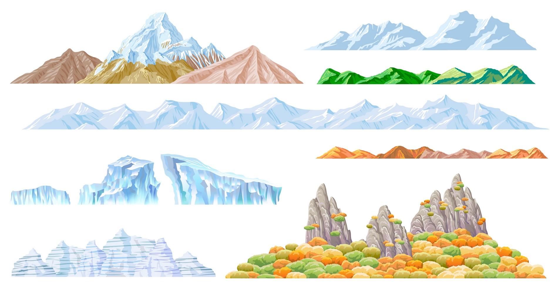 Mountain horizon clipart.