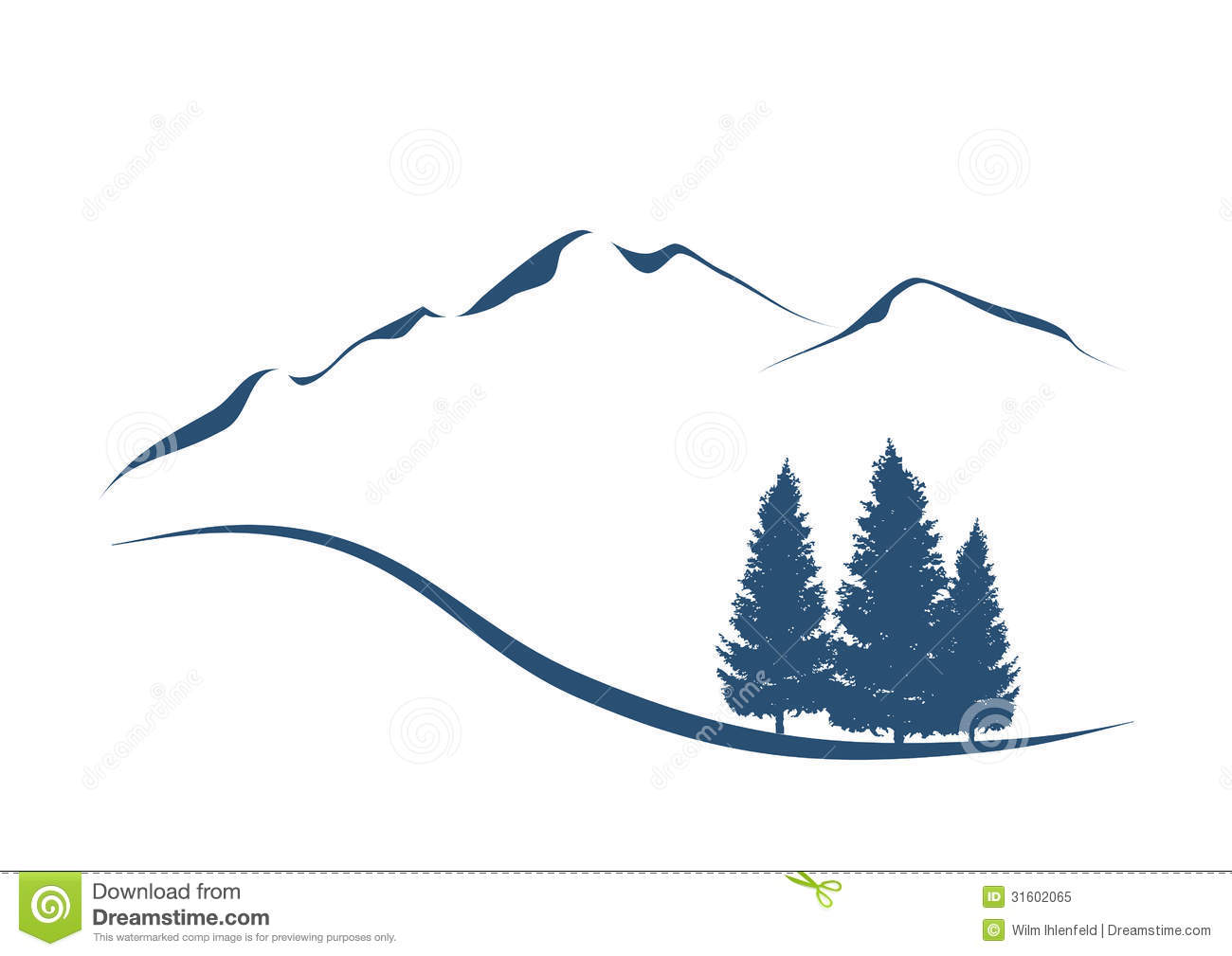 Alps Stock Illustrations.